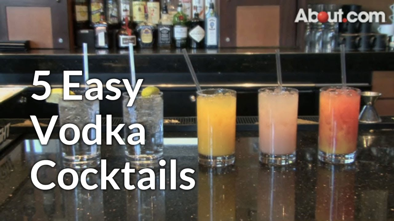 5 easy vodka cocktails video cocktail recipe for Easy vodka cocktails to make at home