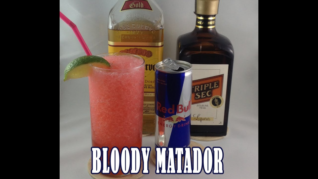Bloody matador cocktail tequila cocktail recipes video for Tequila mixed drink recipes